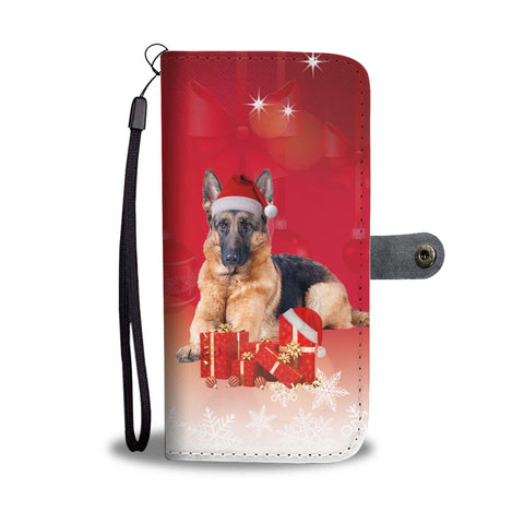 German Shepherd Christmas Print Wallet Case-Free Shipping