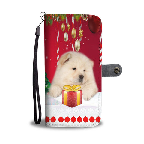 Chow Chow Dog Christmas Print Wallet Case-Free Shipping