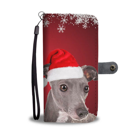 Italian Greyhound Christmas Print Wallet Case-Free Shipping