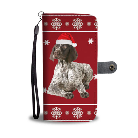 German Shorthaired Pointer Christmas Print Wallet Case-Free Shipping