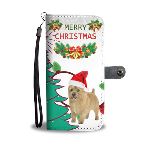 Cute Norwich Terrier Christmas Print Wallet Case-Free Shipping