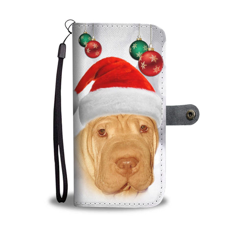 Cute Shar Pei On Christmas Print Wallet Case-Free Shipping