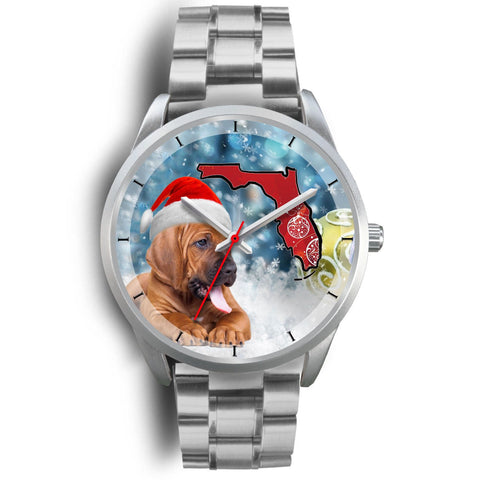 Bloodhound On Christmas Florida Wrist Watch-Free Shipping