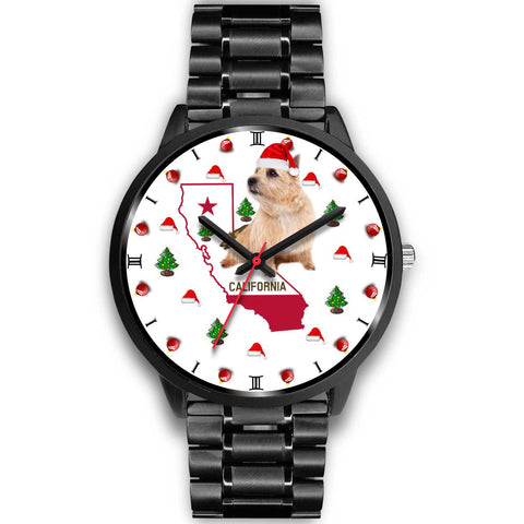 Norwich Terrier California Christmas Special Wrist Watch-Free Shipping