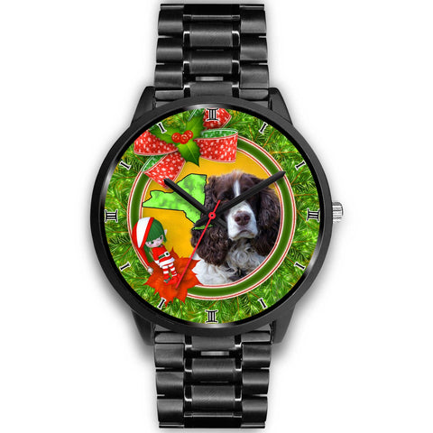 English Springer Spaniel Dog New York Christmas Special Wrist Watch-Free Shipping