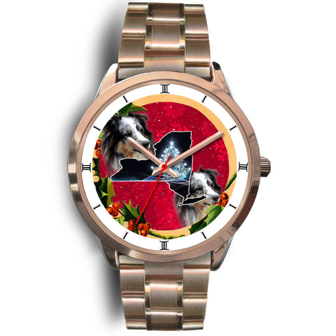 Shetland Sheepdog New York Christmas Special Wrist Watch-Free Shipping
