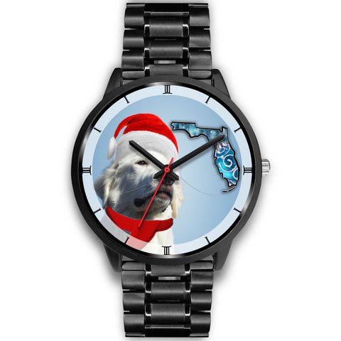Great Pyrenees On Christmas Florida Wrist Watch-Free Shipping