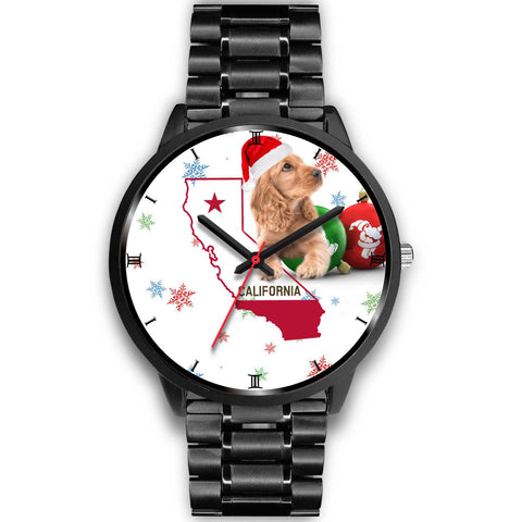 Cocker Spaniel California Christmas Special Wrist Watch-Free Shipping