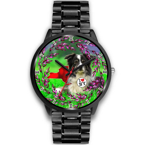 Amazing Border Collie Dog New York Christmas Special Wrist Watch-Free Shipping