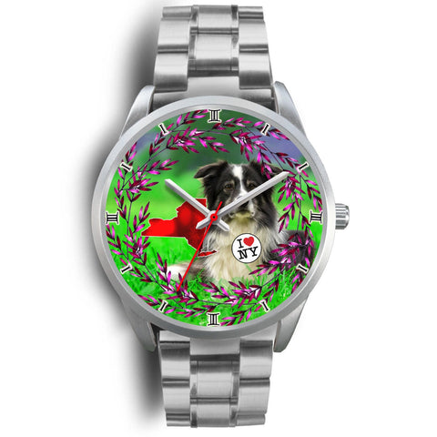 Border Collie Dog New York Christmas Special Wrist Watch-Free Shipping