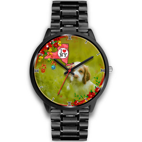 Cocker Spaniel Dog New York Christmas Special Wrist Watch-Free Shipping