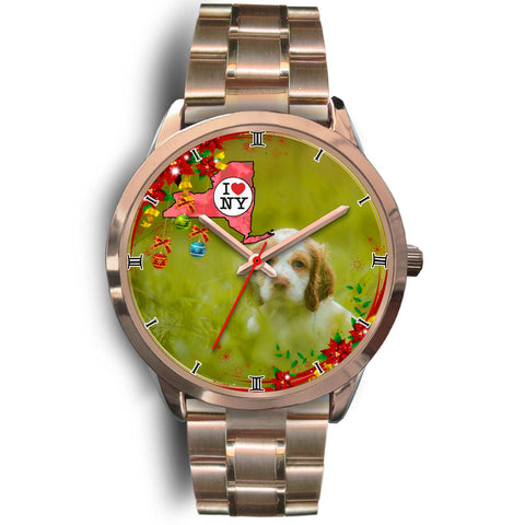 Cute Cocker Spaniel Dog New York Christmas Special Wrist Watch-Free Shipping