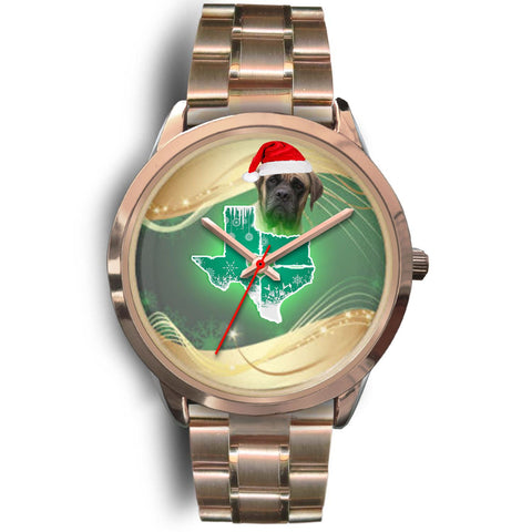 English Mastiff Dog Texas Christmas Special Wrist Watch-Free Shipping