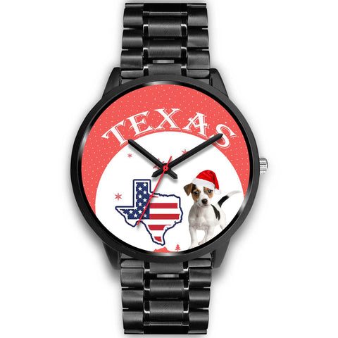 Jack Russell Terrier Texas Christmas Special Wrist Watch-Free Shipping