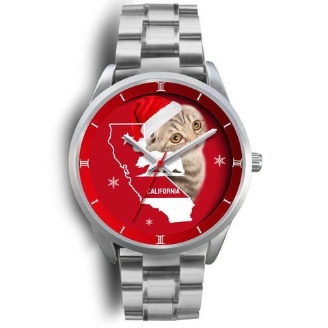 Scottish Fold Cat California Christmas Special Wrist Watch-Free Shipping