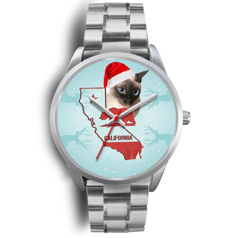 Siamese cat California Christmas Special Wrist Watch-Free Shipping