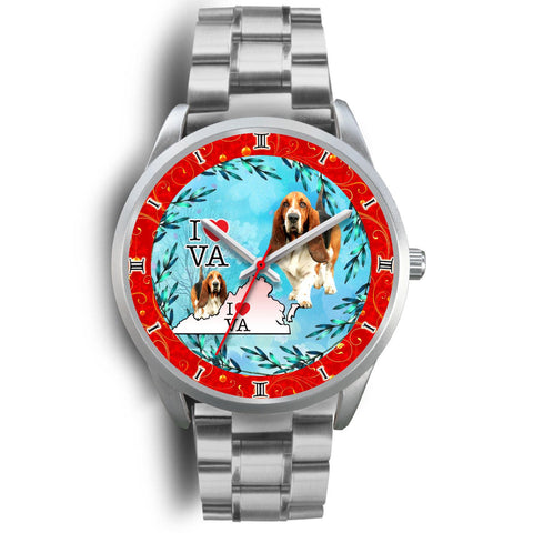 Amazing Basset Hound Dog Virginia Christmas Special Wrist Watch-Free Shipping