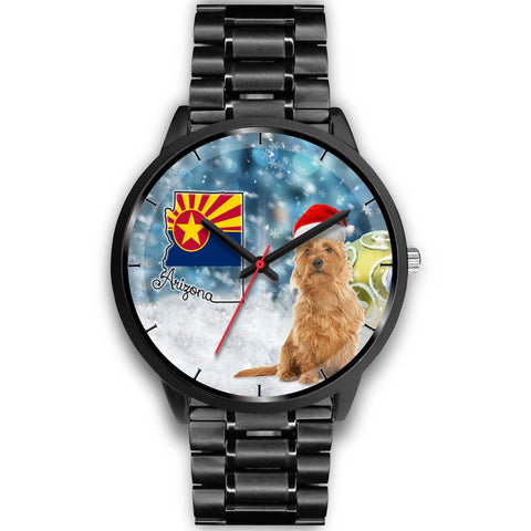 Australian Terrier On Christmas Arizona Wrist Watch-Free Shipping