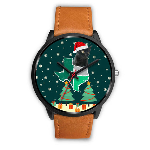 Bombay Cat Texas Christmas Special Wrist Watch-Free Shipping