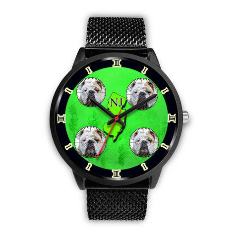 Amazing Bulldog New Jersey Christmas Special Wrist Watch-Free Shipping