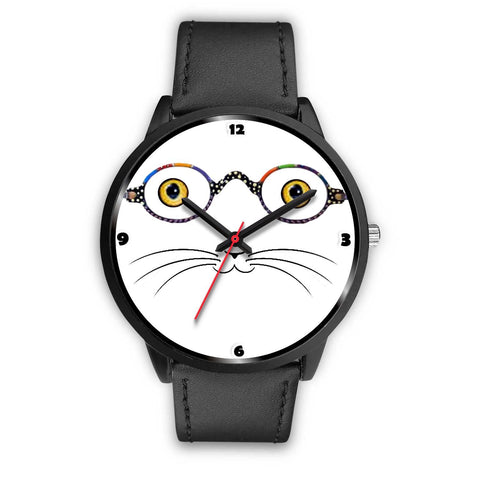 Cat Face With Glasses Print Christmas Special Wrist Watch-Free Shipping