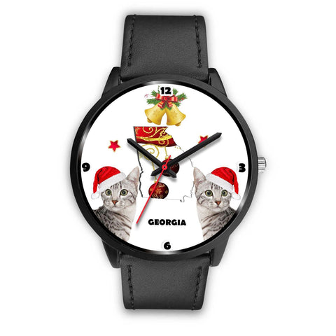 Egyptian Mau Cat Georgia Christmas Special Wrist Watch-Free Shipping
