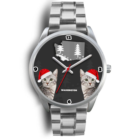 Egyptian Mau Cat Washington Christmas Special Wrist Watch-Free Shipping