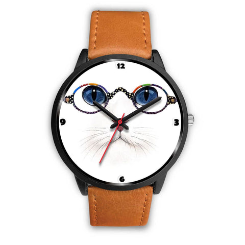 Cute Cat Blue Eyes Print Christmas Special Wrist Watch-Free Shipping