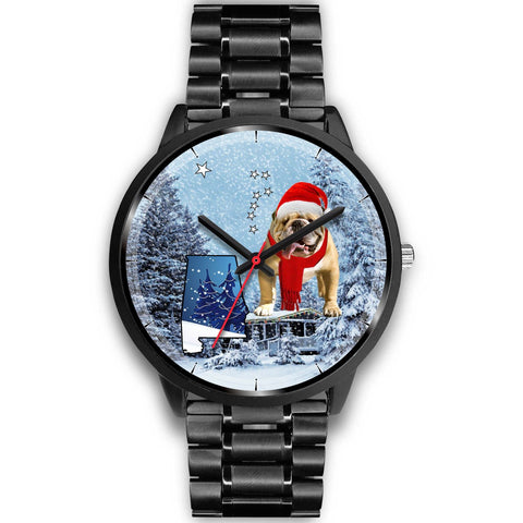 Cute Bulldog Alabama Christmas Special Wrist Watch-Free Shipping
