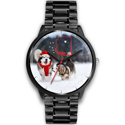 Alaskan Malmute Arizona Christmas Special Wrist Watch-Free Shipping