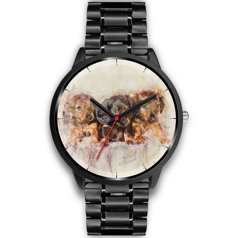 Cute Dachshund Dog Christmas Special Wrist Watch-Free Shipping