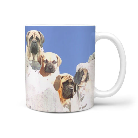 English Mastiff Dog Mount Rushmore Print 360 White Mug