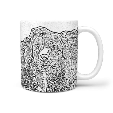 Nova Scotia Duck Tolling Retriever Mount Rushmore 360 White Mug