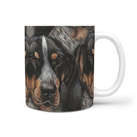 Bluetick Coonhound Dog Print 360 White Mug
