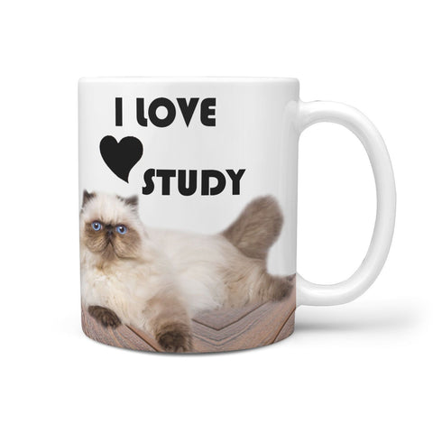 Cute Himalayan Cat Print 360 White Mug