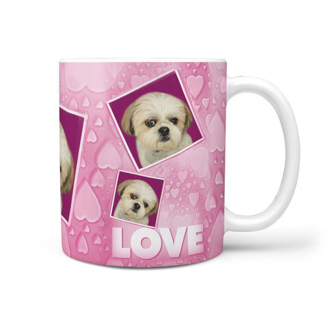 Shih Tzu Dog Love Print 360 White Mug