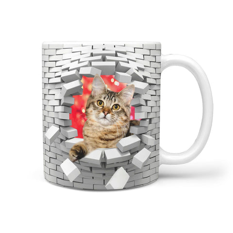 Lovely American Bobtail Cat Print 360 Mug
