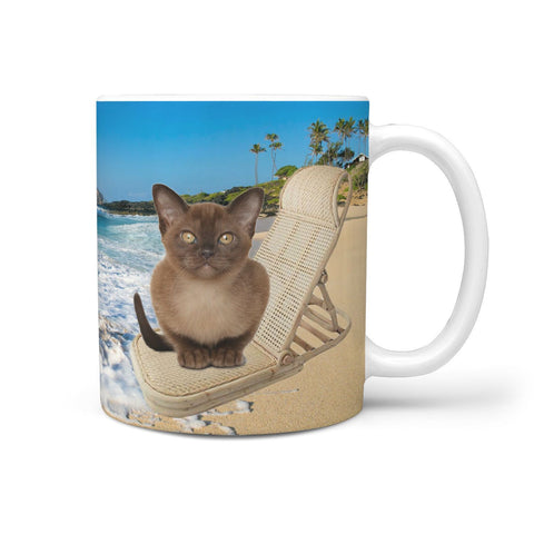 Cute Burmese Cat Print 360 Mug