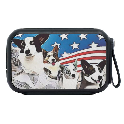 Cardigan Welsh Corgi Mount Rushmore Print Bluetooth Speaker