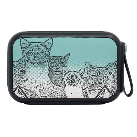 Burmese Cat Mount Rushmore Print Bluetooth Speaker