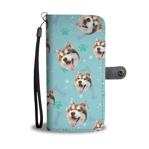 Personalized Husky Dog Wallet Phone Case