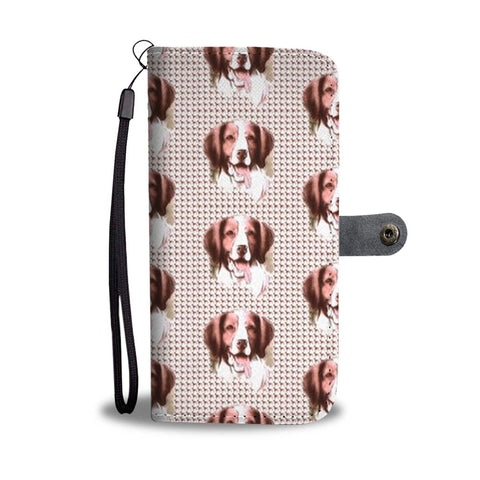 Brittany Dog Patterns Print Wallet Case-Free Shipping