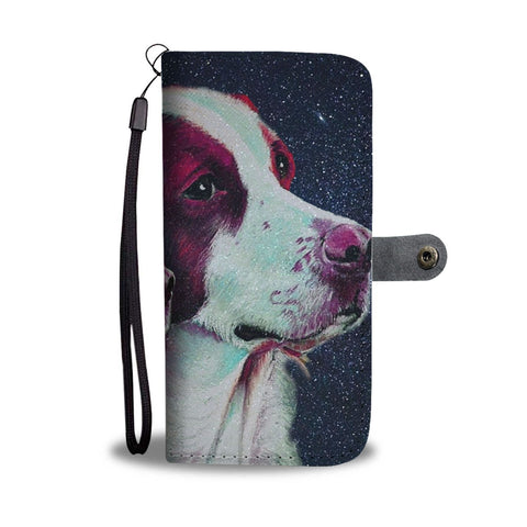 Lovely Brittany Dog Print Wallet Case-Free Shipping