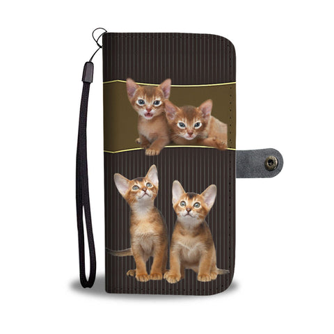 Abyssinian Cat Print Wallet Case