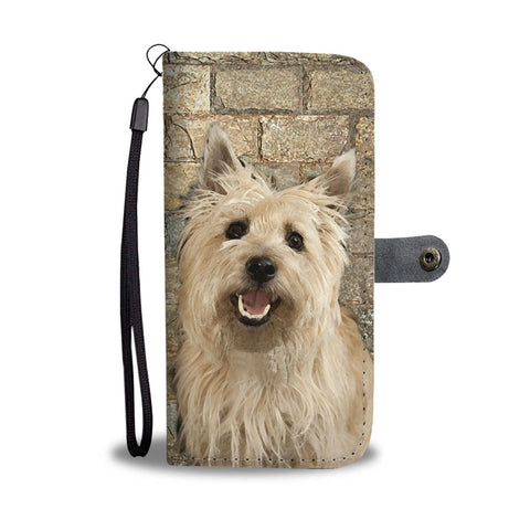 Cute Cairn Terrier Print Wallet Case- Free Shipping
