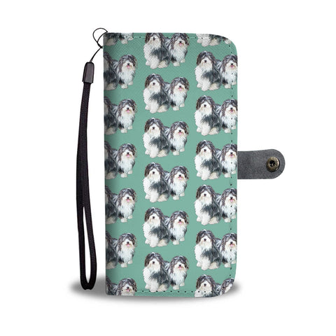 Lovely Havanese Dog Pattern Print Wallet Case-Free Shipping