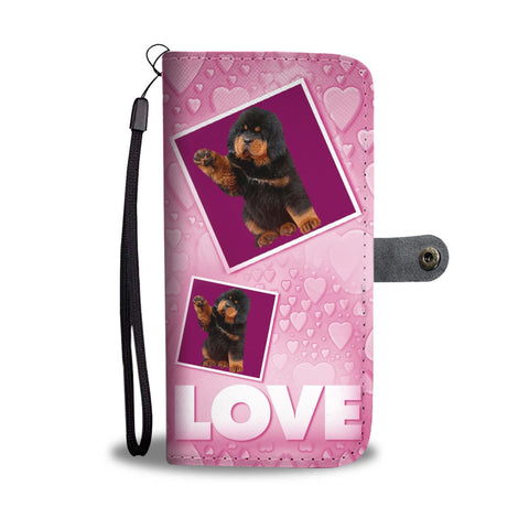 Tibetan Mastiff Dog with Love Print Wallet Case-Free Shipping