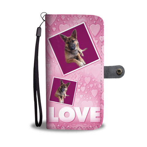 Belgian Malinois Dog with Love Print Wallet Case-Free Shipping