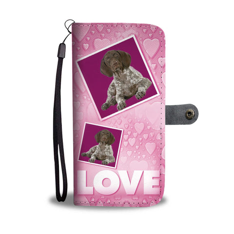 German Shorthaired Pointer with Love Print Wallet Case-Free Shipping