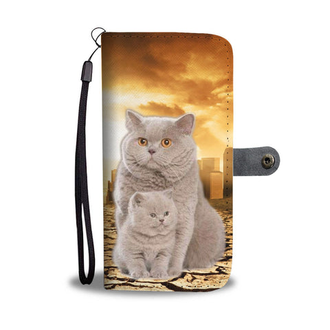 British Shorthair Cat Print Wallet Case- Free Shipping